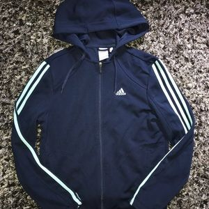 Women's Adidas blue zip up jacket